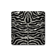 Skin2 Black Marble & Silver Foil (r) Square Magnet by trendistuff
