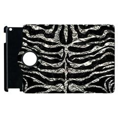 Skin2 Black Marble & Silver Foil (r) Apple Ipad 2 Flip 360 Case by trendistuff