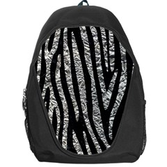 Skin4 Black Marble & Silver Foil Backpack Bag