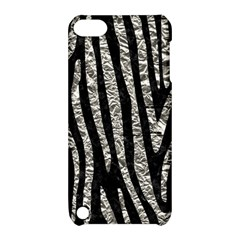 Skin4 Black Marble & Silver Foil Apple Ipod Touch 5 Hardshell Case With Stand by trendistuff