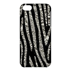 Skin4 Black Marble & Silver Foil Apple Iphone 5c Hardshell Case by trendistuff