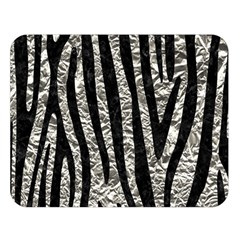 Skin4 Black Marble & Silver Foil (r) Double Sided Flano Blanket (large)  by trendistuff
