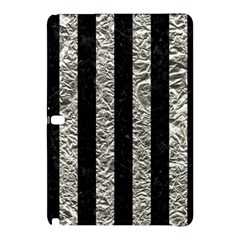 Stripes1 Black Marble & Silver Foil Samsung Galaxy Tab Pro 12 2 Hardshell Case by trendistuff