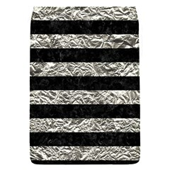 Stripes2 Black Marble & Silver Foil Flap Covers (s)  by trendistuff