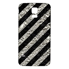 Stripes3 Black Marble & Silver Foil (r) Samsung Galaxy S5 Back Case (white) by trendistuff