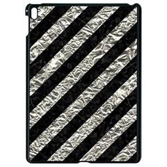 Stripes3 Black Marble & Silver Foil (r) Apple Ipad Pro 9 7   Black Seamless Case by trendistuff