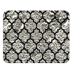 Tile1 Black Marble & Silver Foil Double Sided Flano Blanket (large)  by trendistuff