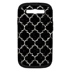 Tile1 Black Marble & Silver Foil (r) Samsung Galaxy S Iii Hardshell Case (pc+silicone) by trendistuff