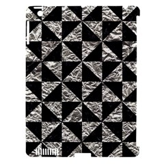 Triangle1 Black Marble & Silver Foil Apple Ipad 3/4 Hardshell Case (compatible With Smart Cover) by trendistuff