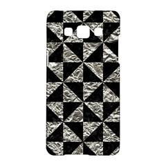 Triangle1 Black Marble & Silver Foil Samsung Galaxy A5 Hardshell Case  by trendistuff