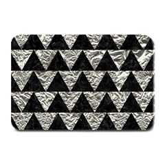 Triangle2 Black Marble & Silver Foil Plate Mats by trendistuff