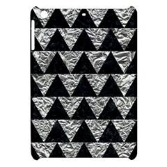 Triangle2 Black Marble & Silver Foil Apple Ipad Mini Hardshell Case by trendistuff
