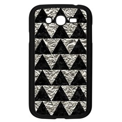 Triangle2 Black Marble & Silver Foil Samsung Galaxy Grand Duos I9082 Case (black) by trendistuff