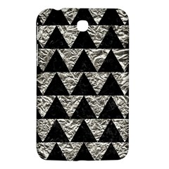 Triangle2 Black Marble & Silver Foil Samsung Galaxy Tab 3 (7 ) P3200 Hardshell Case  by trendistuff
