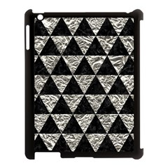 Triangle3 Black Marble & Silver Foil Apple Ipad 3/4 Case (black) by trendistuff