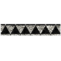Triangle3 Black Marble & Silver Foil Large Velour Scarf  by trendistuff