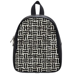 Woven1 Black Marble & Silver Foil School Bag (small) by trendistuff