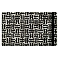 Woven1 Black Marble & Silver Foil Apple Ipad 3/4 Flip Case by trendistuff