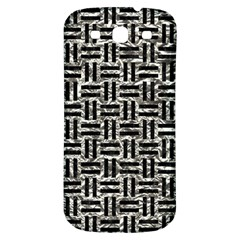 Woven1 Black Marble & Silver Foil Samsung Galaxy S3 S Iii Classic Hardshell Back Case by trendistuff