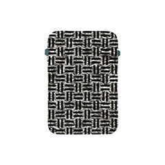 Woven1 Black Marble & Silver Foil Apple Ipad Mini Protective Soft Cases by trendistuff