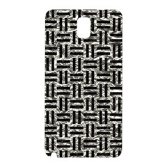 Woven1 Black Marble & Silver Foil Samsung Galaxy Note 3 N9005 Hardshell Back Case by trendistuff