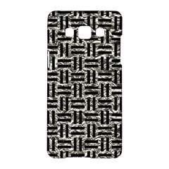 Woven1 Black Marble & Silver Foil Samsung Galaxy A5 Hardshell Case  by trendistuff