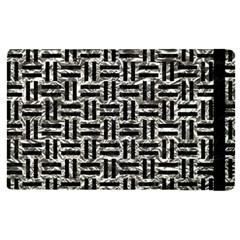 Woven1 Black Marble & Silver Foil Apple Ipad Pro 9 7   Flip Case by trendistuff