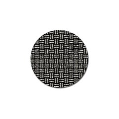 Woven1 Black Marble & Silver Foil (r) Golf Ball Marker (4 Pack) by trendistuff