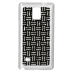 Woven1 Black Marble & Silver Foil (r) Samsung Galaxy Note 4 Case (white)