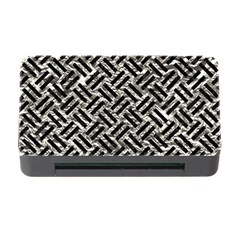 Woven2 Black Marble & Silver Foil Memory Card Reader With Cf by trendistuff