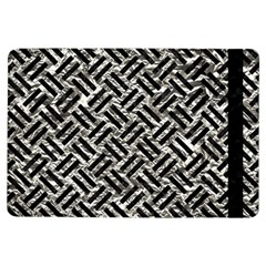 Woven2 Black Marble & Silver Foil Ipad Air Flip by trendistuff