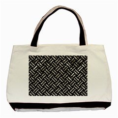 Woven2 Black Marble & Silver Foil (r) Basic Tote Bag (two Sides) by trendistuff