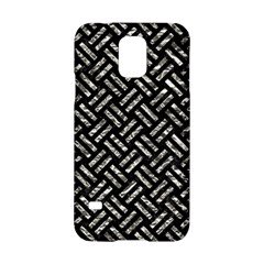 Woven2 Black Marble & Silver Foil (r) Samsung Galaxy S5 Hardshell Case  by trendistuff