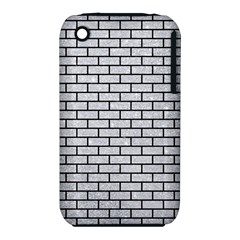 Brick1 Black Marble & Silver Glitter Iphone 3s/3gs by trendistuff
