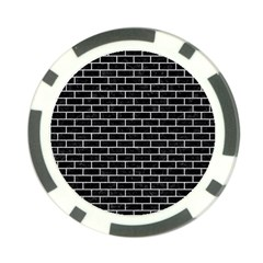 Brick1 Black Marble & Silver Glitter (r) Poker Chip Card Guard by trendistuff