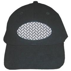Brick2 Black Marble & Silver Glitter Black Cap by trendistuff