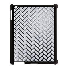 Brick2 Black Marble & Silver Glitter Apple Ipad 3/4 Case (black) by trendistuff