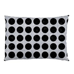 Circles1 Black Marble & Silver Glitter Pillow Case by trendistuff