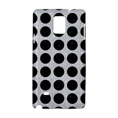Circles1 Black Marble & Silver Glitter Samsung Galaxy Note 4 Hardshell Case by trendistuff