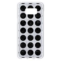 Circles1 Black Marble & Silver Glitter Samsung Galaxy S8 Plus White Seamless Case by trendistuff