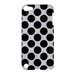 Circles2 Black Marble & Silver Glitter Apple Ipod Touch 5 Hardshell Case