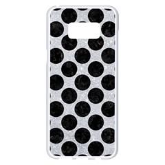 Circles2 Black Marble & Silver Glitter Samsung Galaxy S8 Plus White Seamless Case by trendistuff