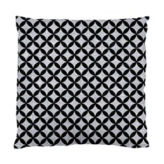 Circles3 Black Marble & Silver Glitter Standard Cushion Case (one Side) by trendistuff