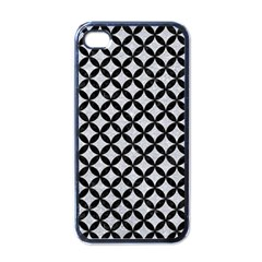 Circles3 Black Marble & Silver Glitter Apple Iphone 4 Case (black)