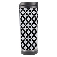 Circles3 Black Marble & Silver Glitter Travel Tumbler by trendistuff