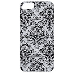 Damask1 Black Marble & Silver Glitter Apple Iphone 5 Classic Hardshell Case