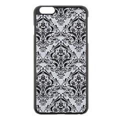 Damask1 Black Marble & Silver Glitter Apple Iphone 6 Plus/6s Plus Black Enamel Case by trendistuff
