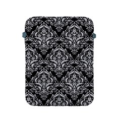 Damask1 Black Marble & Silver Glitter (r) Apple Ipad 2/3/4 Protective Soft Cases by trendistuff