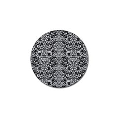 Damask2 Black Marble & Silver Glitter (r) Golf Ball Marker (10 Pack) by trendistuff