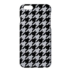 Houndstooth1 Black Marble & Silver Glitter Apple Iphone 6 Plus/6s Plus Hardshell Case